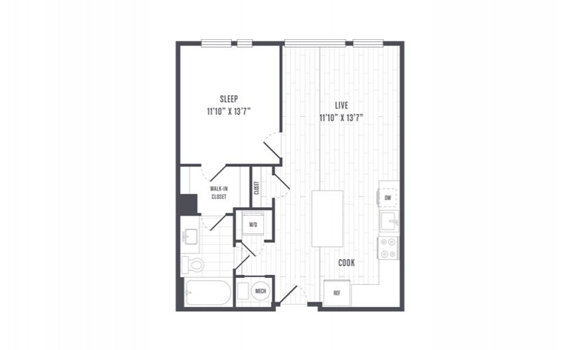 The Lindley Floor Plans One Bedroom Apartment